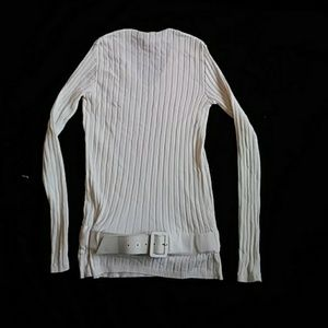 CHANEL COTTOB OFF WHITE LNG SLEEVE TOP, 36